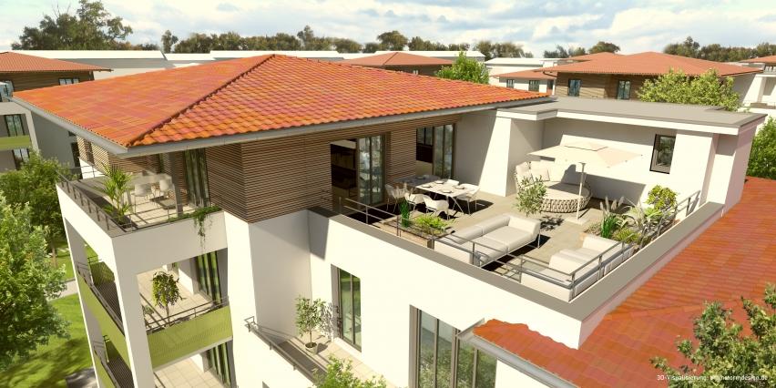 Wohnprojekt Dahoam im Inntal. Dachterrasse