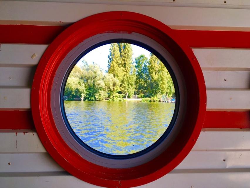 Foto: Fensterblick auf die Rummelsburger Bucht