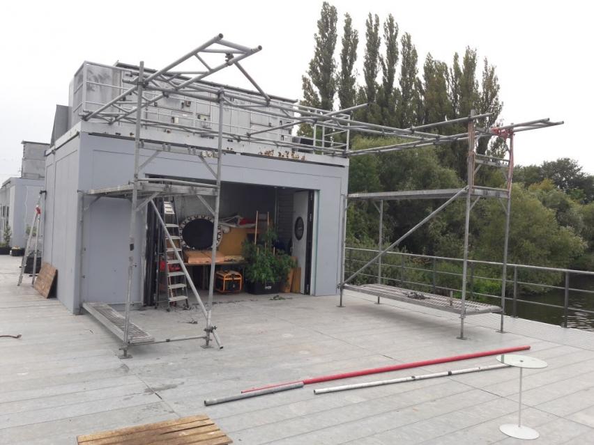 Umbau des Hausbootes Freibeuter