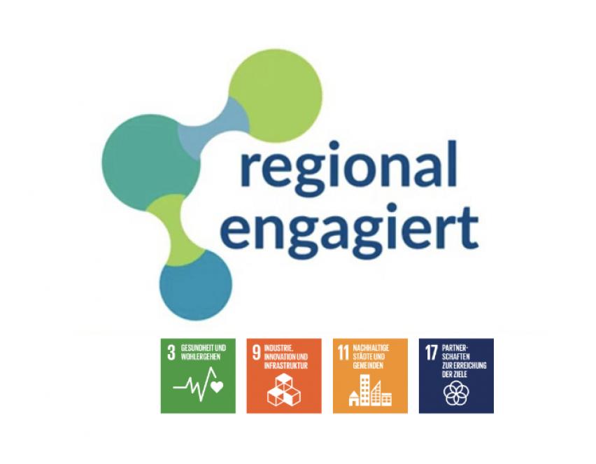 bring-together ist im Netzwerk »regional engagiert« und vertritt damit offiziell die Nachhaltigkeitsziele 3, 9, 11, 17