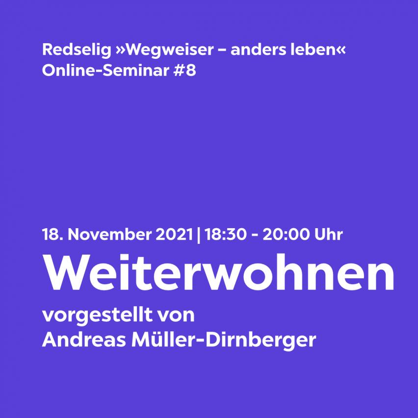 Redselig #8: Weiterwohnen mit Andreas Müller-Dirnberger