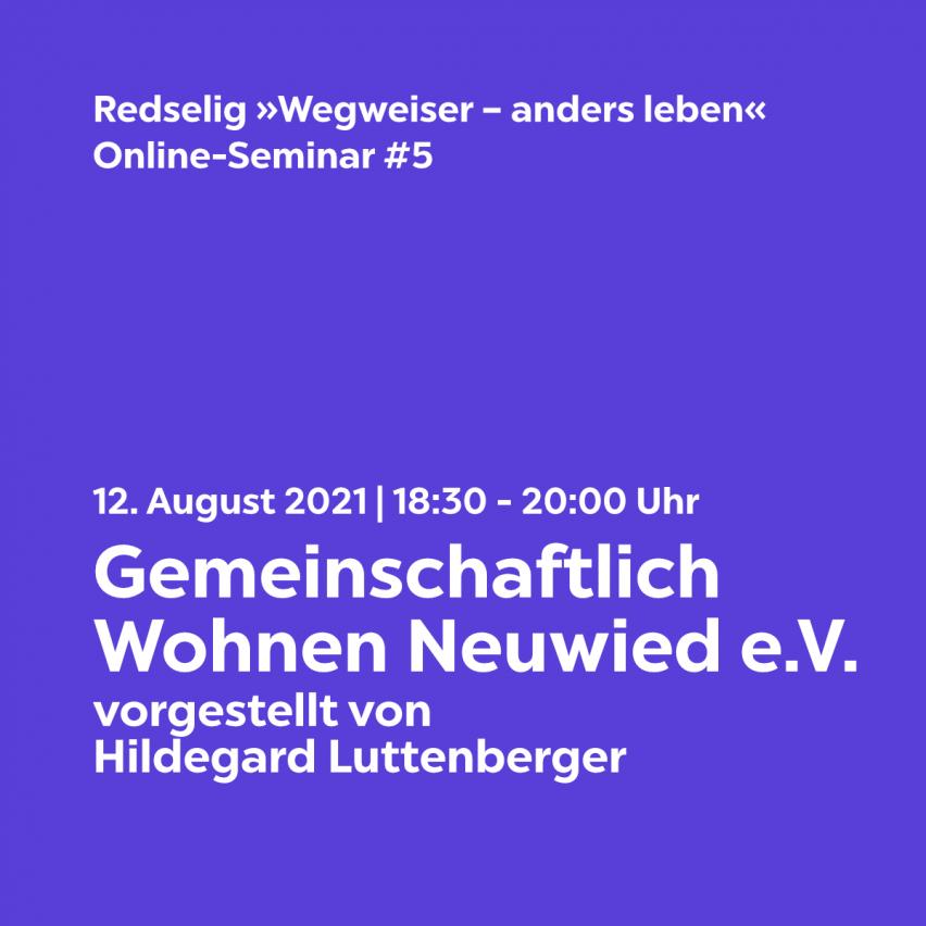 Redselig #5: Gemeinschaftlich Wohnen Neuwied e.V. mit Hildegard Luttenberger