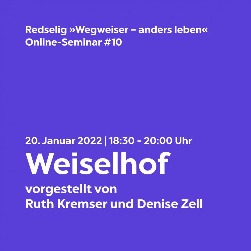 Redselig #10: Weiselhof mit Ruth Kremser und Denise Zell