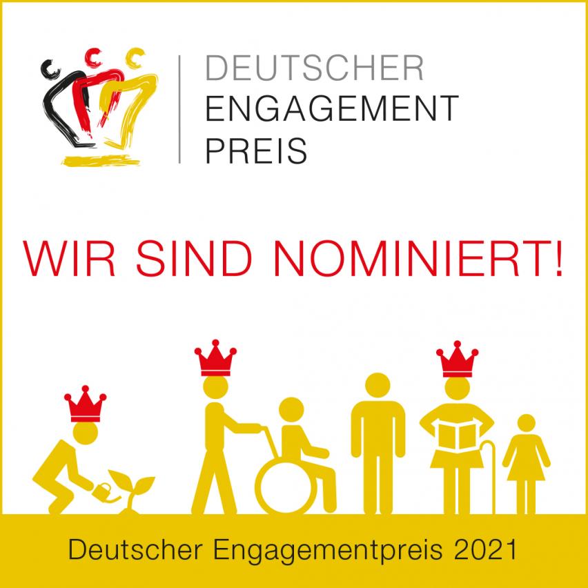 bring-together für den Deutschen Engagementpreis 2021 nominiert