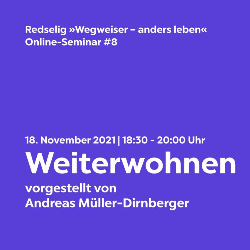 Redselig #8: Weiterwohnen mit Andreas Dirnberger – vorgestellt bei bring-together