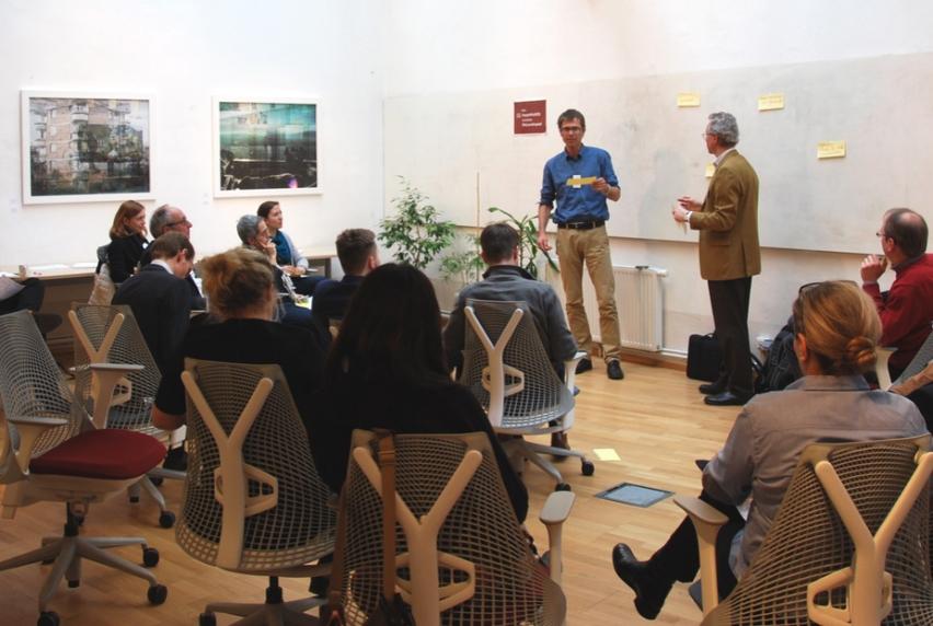 Teilnehmer im Innovationsworkshop SINN Cities
