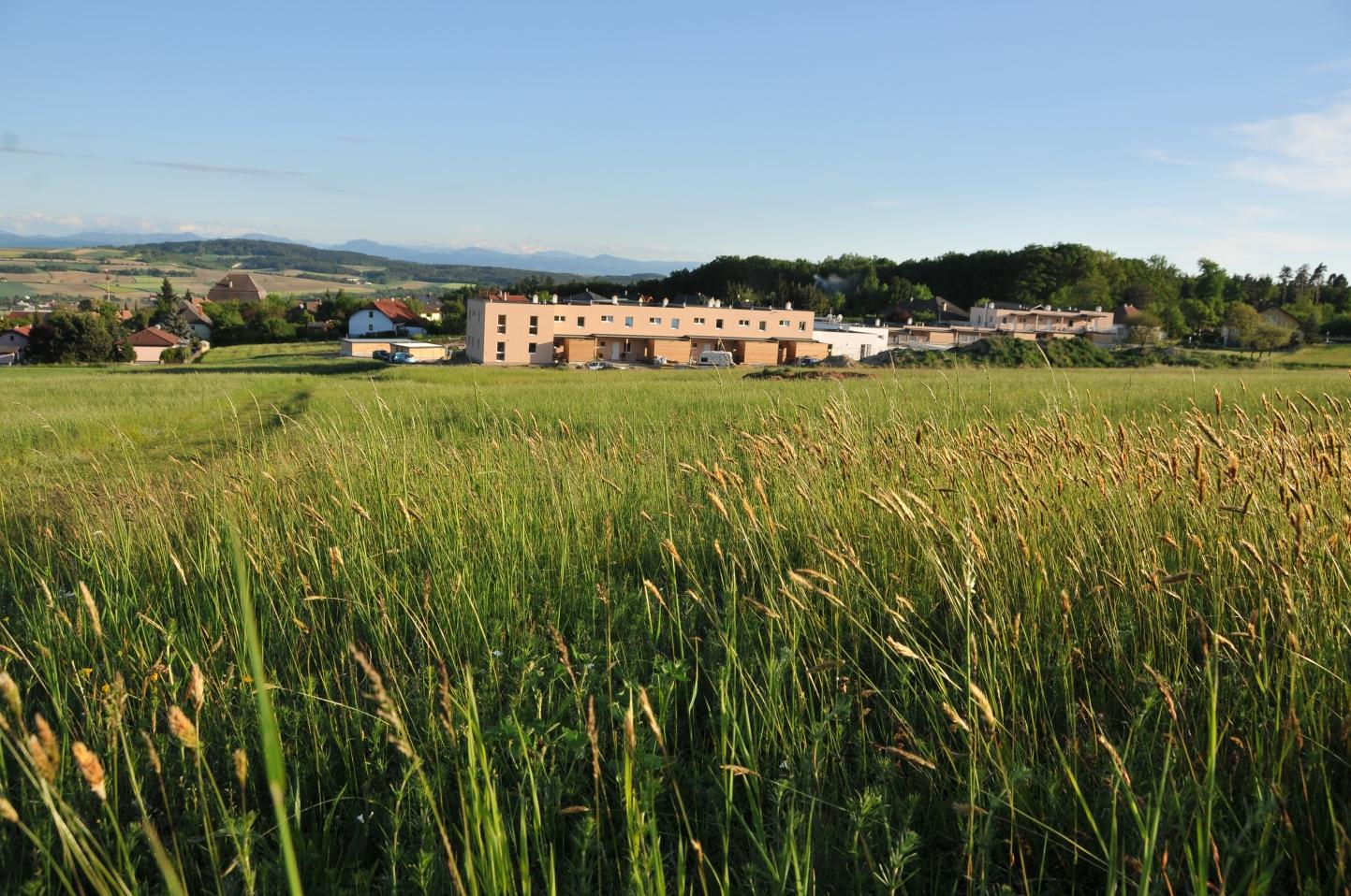 Cohousing-Siedlung Pomali. Außen Wohnsiedlung – innen Gemeinschaft.