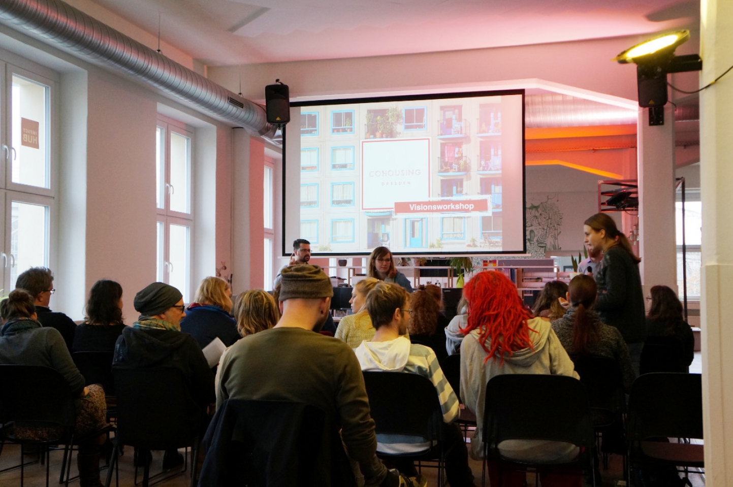 Visionsworkshop im Impact Hub Dresden - Auftakt