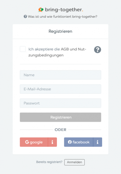 1. Registriere Dich