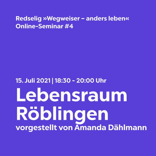 Redselig #4: Lebensraum Röblingen mit Amanda Dählmann